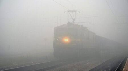 delhi weather, trains delayed due to fog, delhi weather today, delhi weather forecast, weather today, train running status, thunderstorm, imd delhi weather, imd delhi weather today, delhi weather forecast today, delhi rain, delhi rain today, delhi rain news, delhi rain forecast, delhi monsoon, delhi monsoon news, monsoon, todau weather, weather today