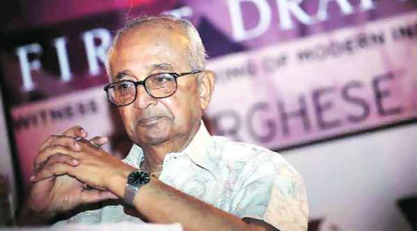 Verghese at the launch of First Draft: Witness to the Making of Modern India.(Express archive)
