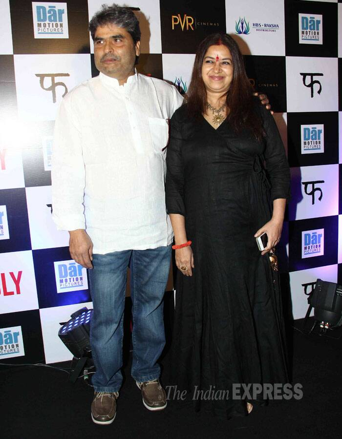Haider director Vishal Bhardwaj came with his singer wife Rekha. (Source: Varinder Chawla)