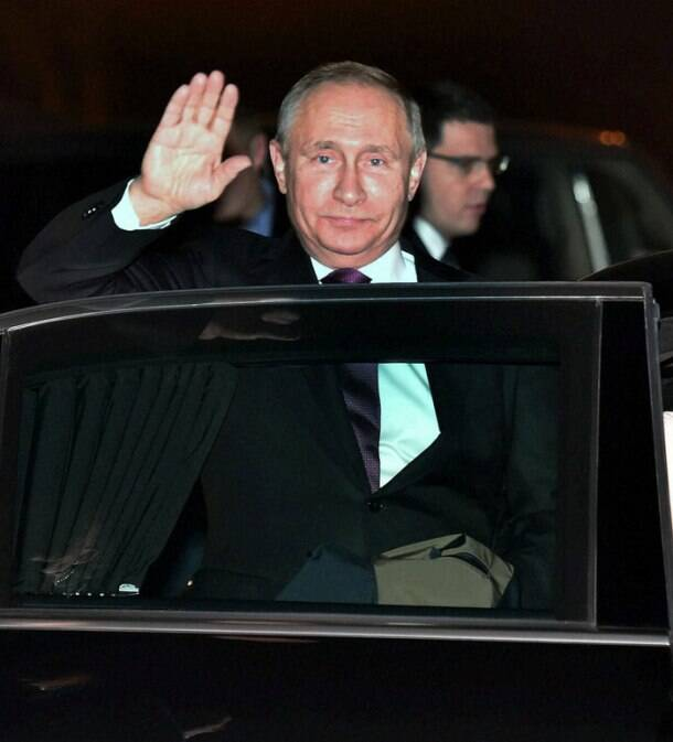 Vladimir Putin arrives in India for summit talks with PM Modi