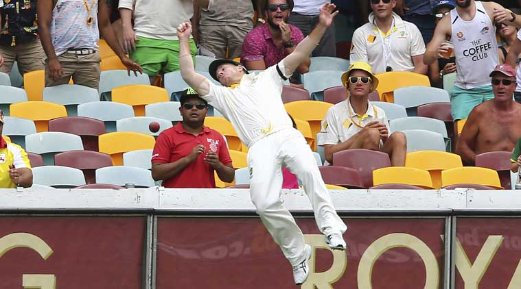 Warner, who had cracked twin centuries in the first Test, was hit at the thumb by a rising delivery from India's pacer Umesh Yadav in their second innings. (Source: AP)