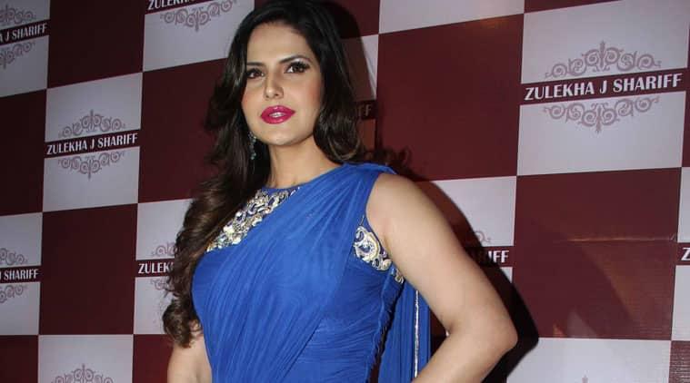 Zaine Khan looks lovely in a blue sari gown.