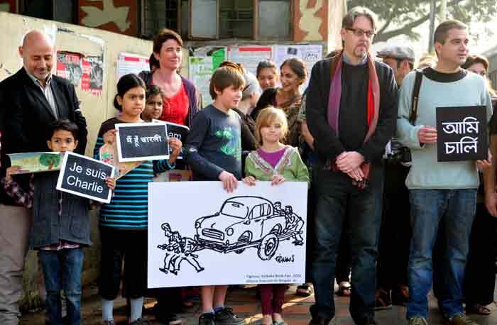 Kolkata, Charlie Hebdo, Charlie Hebdo Attack, Paris Attack, French