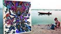 art, culture, lord Shiva art, varanasi, holy city New York, abhishek singh, lord shiva samudra manthan, hiva in Varanasi: A Tribute to Ganges, Assi Ghat, Tulsi Ghat and Dashashwamedh Ghat