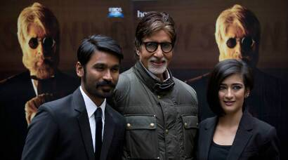PHOTOS: Amitabh Bachchan, Dhanush, Akshara Haasan take 'Shamitabh' to London