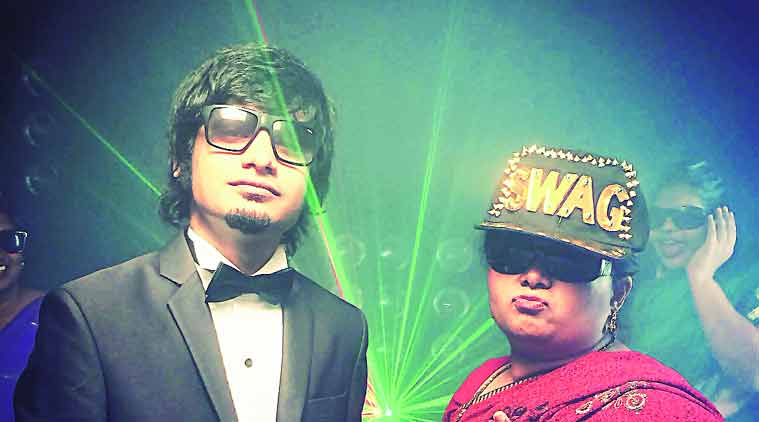 Varun Agarwal with Anu Aunty in a still from his rap video