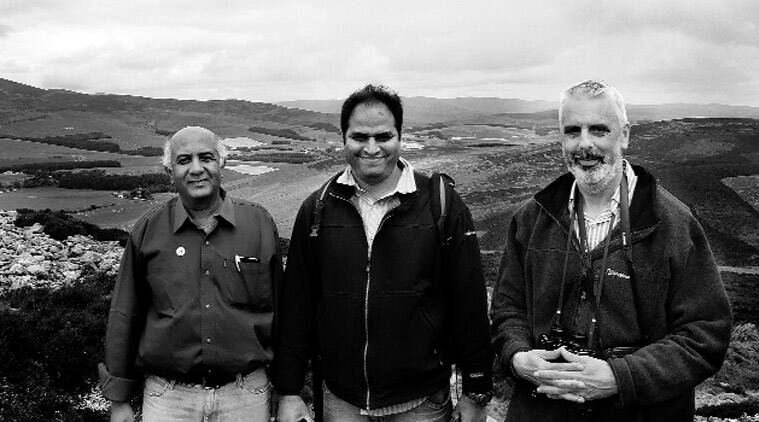Dr Pande, Ghadge & Dr Noltie in Scotland for filming the documentary