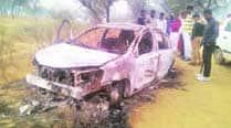 Charred bodies of four Delhi men found in a car in Bahadurgarh
