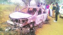 Charred bodies of four Delhi men found in a car in Bahadurgarh