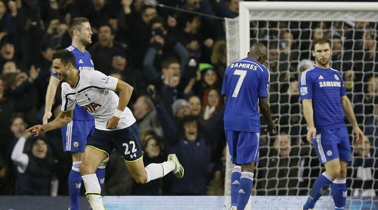 Chelsea, previously beaten only once this season, were blown away by their effervescent London rivals with inspired front man Harry Kane scoring twice and setting up two more goals. (Source: AP)