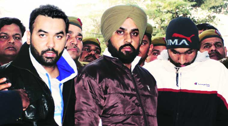 The accused at Rajouri Garden police station. (Source: Express Photo by Purushottam Sharma)