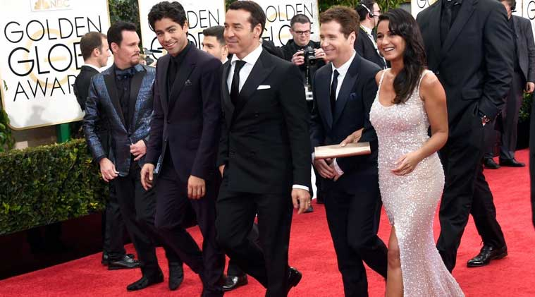 Golden Globes 2015, entourage