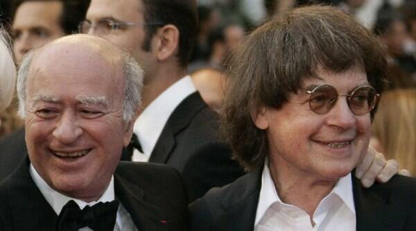 File photo shows French cartoonists Georges Wolinski, left, and Jean Cabut who were killed in terrorists attack on Charlie Hebdo office. (Source: AP photo)