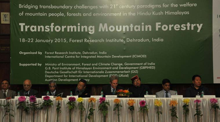 Hem Pande, additional secretary, Union Ministry of Environment, Forests and Climate Change, also spoke at the inaugural session. (Source: Express photo by Virender Singh Negi)