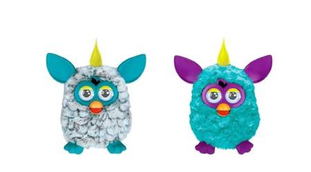 A Furby, an American electronic robotic toy, was released in 1998 by Tiger Electronics.