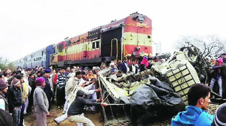 12 of family die in mishap at level crossing