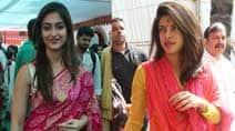 Priyanka Chopra, Ileana D'Cruz  go ethnic