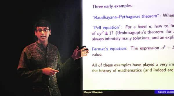 Manjul Bhargava at the Indian Science Congress in Mumbai. (Express photo by Prashant Nadkar)