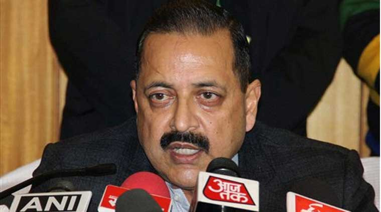 Minister of State for Development of North Eastern Region (Independent Charge), Prime Minister's Office, Personnel, Public Grievances & Pensions, Department of Atomic Energy, Department of Space, Jitendra Singh addressing a press conference in Jammu on Friday. PTI