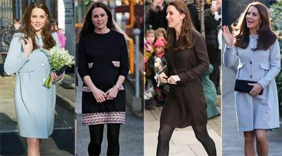Kate Middleton's maternity style file