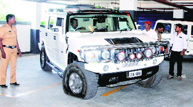 The Hummer that Mohammed Nisham  used to attack the guard.