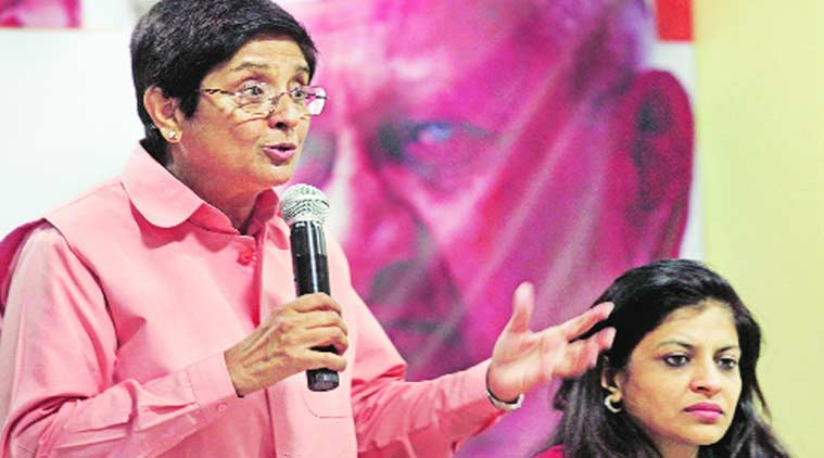 kiran bedi, shazia ilmi, bjp, aap, india against corruption