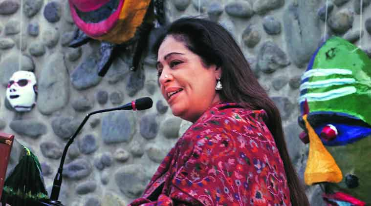 Chandigarh MP Kirron Kher during the national theatre conference at Panjab University. (Source: Express Photo by Kamleshwar Singh)