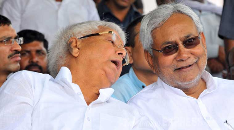 Image result for tussle between laloo prasad and nitish
