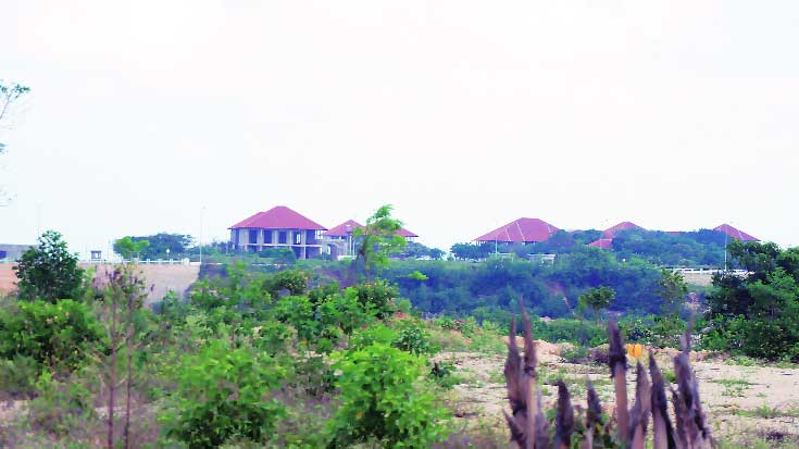 The Palali High Security Zone at Valigamam where the army has built a golf course, a five-star hotel and presidential bungalows.
