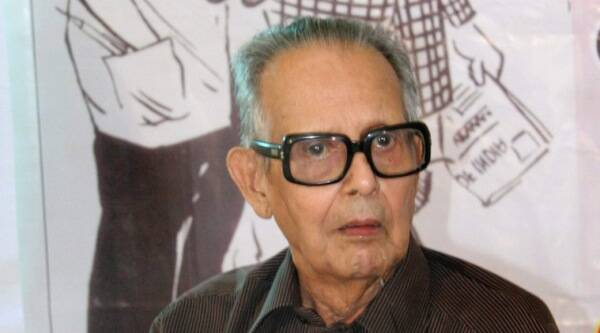 A file photo of eminent cartoonist R.K. Laxman who passed away in Pune on Monday. He was 94. (Source: PTI)