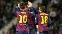 Barcelona humiliate Elche, Madrid edge out Cordoba