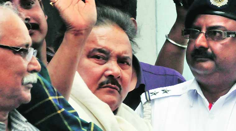 Madan Mitra being produced at Alipore court. (Source: Express Photo By Subham Dutta)