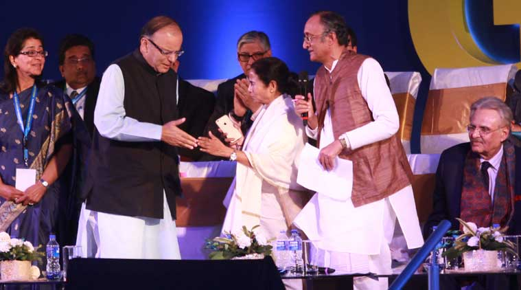mamata banerjee, arun jaitley, Amit Mitra, Bengal global business summit