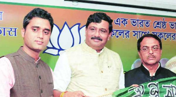 From left: Subrata Thakur, Rahul Sinha and Manjul Krishna Thakur, in Kolkata. ( Source: Express Photo)