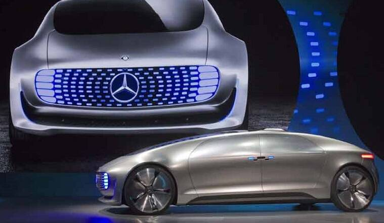 Mercedes benz f 015 at ces 2015 the indian express for Mercedes benz silver lightning price in india