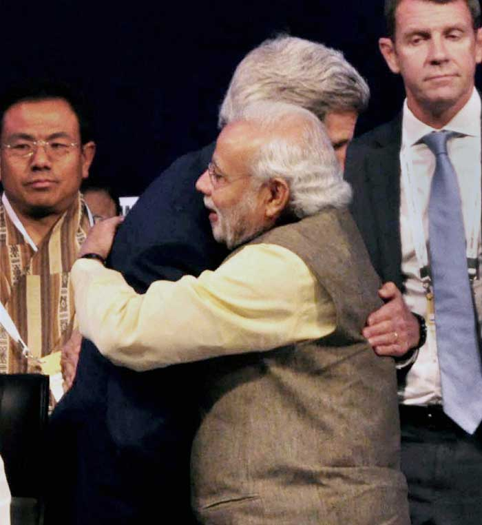 Narendra Modi, John Kerry, Vibrant Gujarat Global Summit