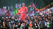 Modi's Ramlila Maidan rally: Empty seats in the crowd, promises galore on stage