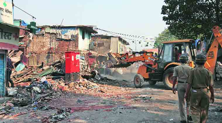 The demolition drive was halted. (Source: Express Photo by Vasant Prabhu)