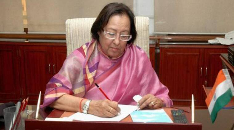 Najma Heptullah, governor, manipur governor, najma heptullah, punjab governor, andaman governor, Assam, Assam new governor, Assam news, Manipur news, Andaman news, Punjab news, India news