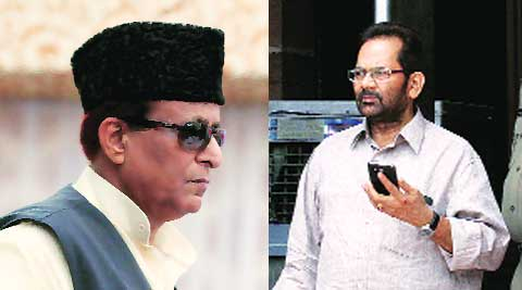 Naqvi denied the charge and claimed that Azam Khan had earlier tried to raise the issue.
