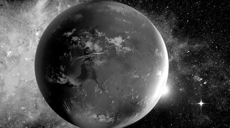 An artist's rendering of Kepler-62f; Kepler spacecraft. (Source: NASA)