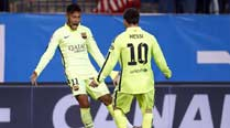 Neymar powers Barcelona into Copa del Rey semi-final