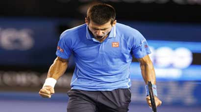Novak Djokovic roars into final