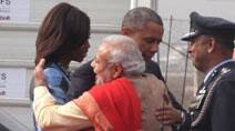 Modi-Obama hug, chai pe charcha: Top pictures from US President's India visit
