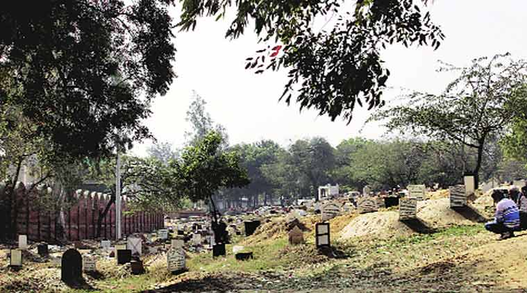 Congress's Asif Mohammad Khan is learnt to have spent Rs 2.8 crore on the graveyard. (Source: Express Photo by Ravi Kanojia)