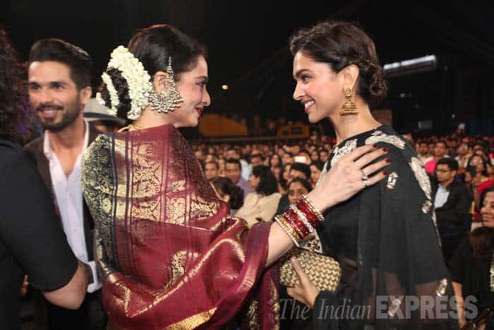 deepika padukone, rekha, screen awards 2015