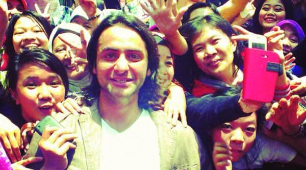 Rohit Bharadwaj with his Indonesian fans