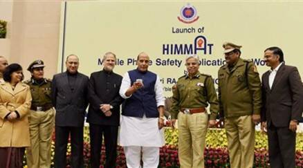 Rajnath Singh launches women safety mobile app 'Himmat'