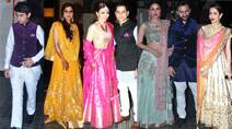 Saif, Kareena, Sharmila at Soha Ali Khan, Kunal Khemu's reception party