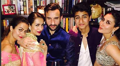 Candid pics from Soha Ali Khan, Kunal Khemu's reception: Kareena bonds with Saif's son Ibrahim; Neha, Sophie have fun